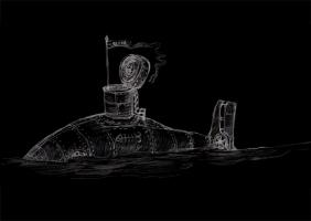 Иллюстрация к cерии рассказов Подводная лодка